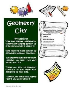 Geometry City Creative Project Activity #Common Core Aligned! Watch your students have fun building a city out of geometric shapes! $