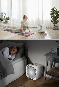 Blueair, a global leader in indoor air purification solutions, unveiled its Pure Fan Auto, the next generation of its highly popular air-purifying fan to instantly cool the room and removes 99-percent of allergens like dust and pollen. Smart Home Appliances, Small Appliances, Best Espresso Machine, Trendy Home, Air Purifier, Toddler Bed, Indoor, Pure Products, Storage