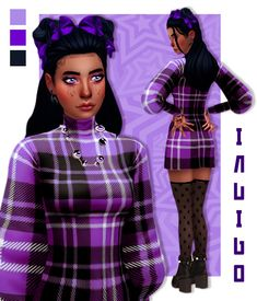 characters with purple hair halloween - characters with purple hair The Sims 4 Pc, Sims 4 Teen, Sims 5, Sims Four, Sims 4 Mm Cc, Sims 4 Cas, Characters With Purple Hair, Sims 4 Characters, Disney Characters