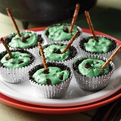 Halloween Sweets from Gooseberry Patch  | Chocolate Witch Cauldrons | MyRecipes.com