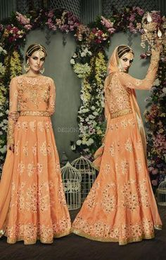 Anarkali dress design with full sleeves and round collar suits online india Visit http://www.designersandyou.com/dresses/anarkali-suits                #AnarkaliPrice #BestAnarkali #FloralAnarkali #DesignerAnarkali #Stylish Anarkali #FashionableAnarkali