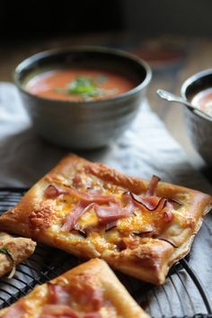 20 Minute Ham and Cheese Tarts (go wonderfully with tomato soup!)