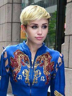Miley Cyrus Short Blonde Hair