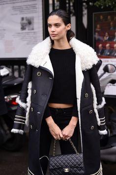 "a-style-chameleon: "" sarasampaios: ""  Sara Sampaio leaving the Miu Miu show during Paris Fashion Week on March 9, 2016. "" X "" SPRING/SUMMER MUST HAVES 2016"