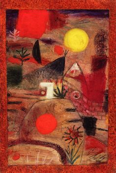 Paul Klee - Ceremony and Sunset. Paul Klee's was a Swiss born, German painter, with a unique style that was influenced by expressionism, cubism, surrealism, and orientalism