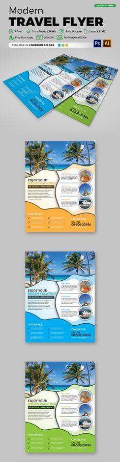 Modern Travel Flyer 133 - Flyers Print Templates