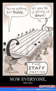 Funny Music Staff Meeting