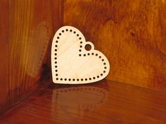 Embroidery Blanks, Wooden Gifts, Laser Cut Wood, Plywood, Stitches, Anniversary, Etsy Shop, Pendant, Heart