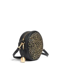 Buy our mini black 'pony' leather canteen bag with gold foil print from bell & fox. Free UK delivery.