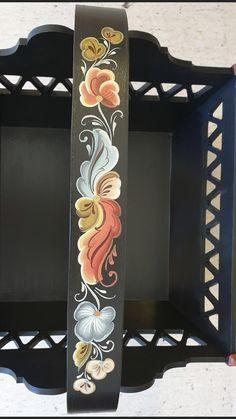 Rosemaling Pattern, Norwegian Rosemaling, Plaster Sculpture, Scandinavian Folk Art, Decoupage, Projects To Try, Greeting Cards, Handmade, Crafts