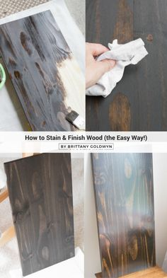 How to stain and finish wood // Staining wood is such an easy way to give character to a piece of unfinished wood, and it's easier than you think! Click here for all the info you need or Pin and save for later.
