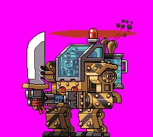ENTER: THE STEEL SOLDIER! Made by the amazing Paul Robertson , the Steel Soldier is one of the first big bosses in Mercenary Kings. Originally built as a construction mech it's designs. Game Design, Game Character Design, Character Art, Anim Gif, Pixel Animation, 8bit Art, Pixel Art Games, Game Assets, Video Game Art