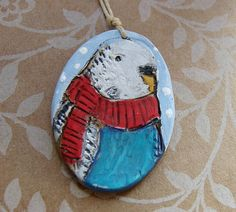 Budgie Parrot Ornament by humblebeads on Etsy