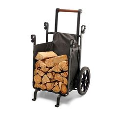Moving firewood has never been easier; the Firewood Companion saves your back and trips with it's waterproof and durable polyester lining that's designed to withstand nearly any load. Firewood Holder, Firewood Storage, Welding Projects, Diy Wood Projects, Copper Fire Pit, Wood Furnace, Gas Fire Table, Wood Burning Fires, Rocket Stoves