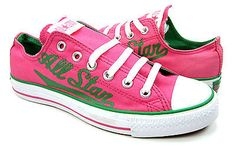Women's pink and green Converse All Star sneakers-bought!!