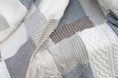 Neutral sweater blanket