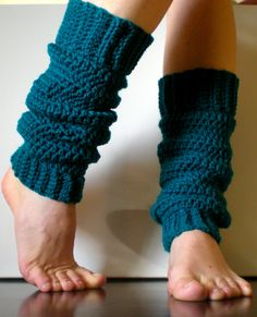 PATTERN:  Classic Warmers, Easy Crochet, Ballet, Dance, Yoga, Leg Warmers, yoga socks, slouchy, ankle, old school, Permission to Sell. $4.99, via Etsy.