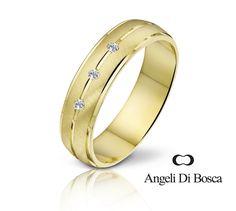 Angeli Di Bosca Trouwringen | Finesse Collectie | 230 gezet 5 mm| Geel gouden ring | ook in wit goud met of zonder diamant verkrijgbaar #trouwring #trouwen #angelidibosca #trouwringen #JDBW