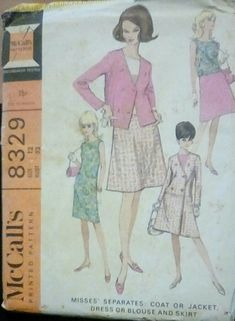 McCall's 8329 - Misses' Separates: Coat or Jacket, Dress or Blouse and Skirt