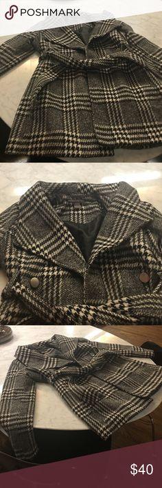 Maternity coat A Pea in the Pod, black and white houndstooth winter coat A Pea in the Pod Jackets & Coats Pea Coats