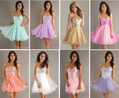 Cute+Short+Dresses+For+Teens | girls guide to life ♡: Cute prom dresses, makeup, and hairstyles ...
