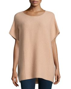 Cashmere+Ribbed+Tunic,+Sandstorm+by+Neiman+Marcus+at+Neiman+Marcus+Last+Call.