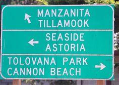 Oregon Coast sign