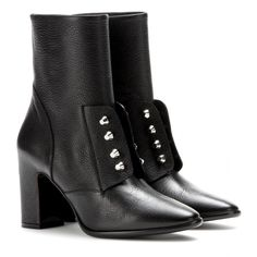 Balenciaga - Leather ankle boots - mytheresa.com GmbH