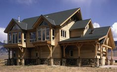 beautiful timber frame home in Colorado