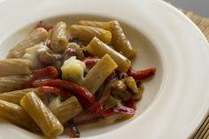 Pasta integrale peperoni e gorgonzola