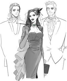 Royal Asgardian siblings all famcy