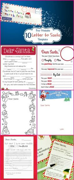 Fun christmas worksheets for children draw christmas pictures santa letters 10 free printable letters to santa spiritdancerdesigns Image collections
