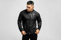 Our Mens ProMesh Bomber - shop the look from https://www.doyoueven.com/collections/hoodies/products/mens-promesh-bomber-black