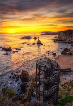 Pismo Beach, California. I would love to do these stairs