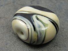 Into the Fire Lampwork Art Beads ~Bianco Nero~ Artist-made glass focal bead OOAK #Lampwork