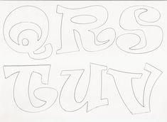 Los Moldes De Letras Para Colorear | Graffiti Graffiti  4 CM