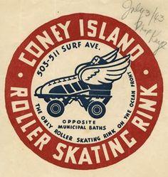 roller skate logo / sticker