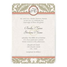 Discount DealsGray Damask with Coral & Gray Wedding InvitationsWe have the best promotion for you and if you are interested in the related item or need more information reviews from the x customer who are own of them before please follow the link to see fully reviews