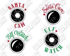 Santa Cam Cut File Set in SVG, EPS, DXF, JPEG, and PNG                                                                                                                                                                                 More