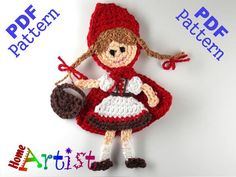 Red Riding Hood crochet pattern only  This is an -INSTANT DOWNLOAD- pattern of a…