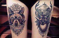 25 tatuajes de ciervos y venados que no puedes perderte - Batanga
