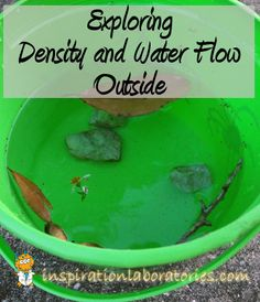 Head outside to explore density and water flow.  Use science skills such as observing and predicting.