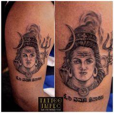 # Om Namah Shivaya tattoo # Shivaratri special # Work in progress # ;)  Get inked from Experienced Tattoo Professional..  Call: Sunil C K @ 9035217218 to book your appointment. www.facebook.com/tattooimpec