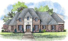 Plan 56377SM: 4 Bed Acadian House Plan With Bonus Room