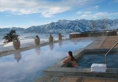 Amangani - Jackson, WY    One of the most spectacular resorts I have ever been to. If you can't afford to stay here, like me, have dinner onsite at The Grill. After dinner take your drink out to the veranda and enjoy the sweeping vista at sunset.