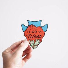 Go West   Sticker