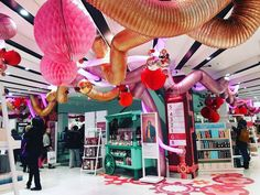 "DEBENHAMS, London, UK, ""Paper Baubles and Decorations for The Gift Factory"", creative by DZD London, pinned by Ton van der Veer Display Design, Store Design, London Calling, Retail Shop, Department Store, Xmas, Christmas, Concept, Weihnachten"