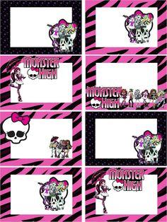 O Tapete Vermelho da Imagem: Images' Red Carpet: Etiquetas para livros escolares das Monster High