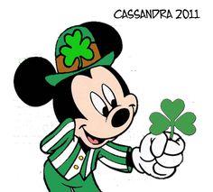 Mickey Mouse St. Patrick's Day   freebie st patrick s day