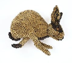 Running Rabbit (Black Face) | From a unique collection of mixed media at https://www.1stdibs.com/art/mixed-media/mixed-media/